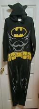 Batman Fleece Costume Pajamas One Piece w Cape Hood Adult Small 28-30 Halloween