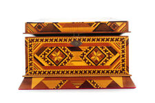 Vintage wooden Jewelry Box w/Beautiful Geometrical Design inlaid