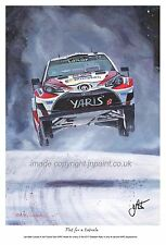 A3  ART PRINT- LATVALA - TOYOTA YARIS WRC - RALLY SWEDEN 2017