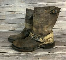 Frye Veronica Distressed Leather Boots (Size: 8B)
