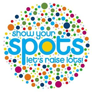 CHILDREN IN NEED SHOW YOUR SPOTS CIRCLE 1 - IRON ON TSHIRT TRANSFERS - A6 A5 A4