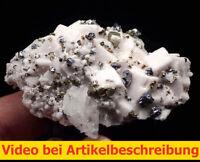 7938 Dolomit Sphalerit Galenit Pyrite Gips ca 5*4*8 cm Naica Mexico 1987 MOVIE