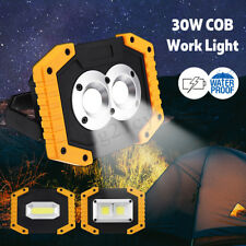 30W USB Rechargeable COB LED Work Light Camping Flashlight Emergency Power Bank