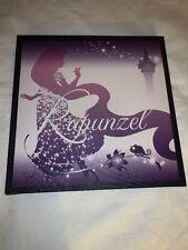 Disney Tangled Princess Rapunzel Artissimo 14 X 14 Purple Canvas Wall Hanging