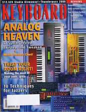 12 Analog Synths Tested, CLAVIA NORD LEAD, Yamaha AN1x, 1999 Keyboard Magazine
