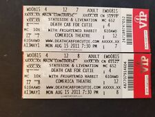 Lot Of 2 Death Cab For Cutie Full Tickets Comerica Theatre August 15 2011 AZ