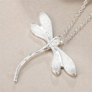 Sterling Silver Dragonfly Pendant Necklace on Adjustable 925 Silver Necklaces