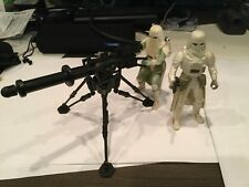 Star Wars Power Of The Force POTF2 Imperial Snow Trooper Tripod Cannon Hoth Lot