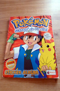Pokemon Sticker Album von 1995/96; fast vollständig