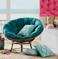 Traditional Rattan Papasan Chair with PINK Cushion
