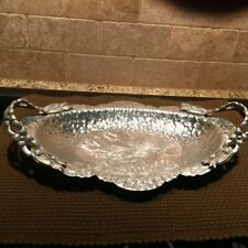 Aluminum Tray Hand Wrought Creation-Tulip Design #404 By Rodney Kent