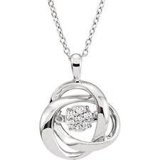 MYSTARA™ Diamante 45.7cm Collar Plata de ley 925 1 / 10ctw