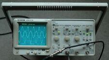 GW INSTEK GOS-6112 100MHz  Analog Oscilloscope, Calibrated, 2 probes, Power Cord