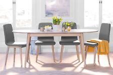 Edvard Olsen Large oval oak extending table. Extending dining table.Solid oak.