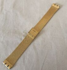 Swatch Uhrband Armbanduhr Metall 27cm, Farbe Gold