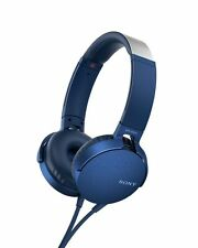 Sony MDR-XB550AP EXTRA BASS Headphones Blue NEW from Japan F/S