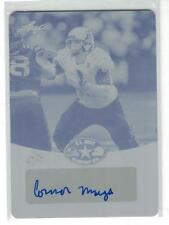2014 CONNOR MAYES LEAF ARMY ALL-AMERICAN CYAN PRINTING PLATE AUTO TRUE #1/1