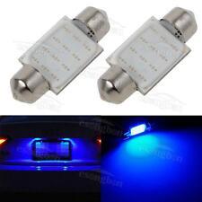SALE 2pcs Ultra Blue License Plate Lamp COB LED Bulbs 36mm Festoon 6411 6418