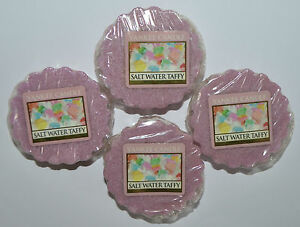 LOT OF 4 YANKEE CANDLE SALT WATER TAFFY TARTS WAX MELTS CANDLE WARMER REFILL NEW