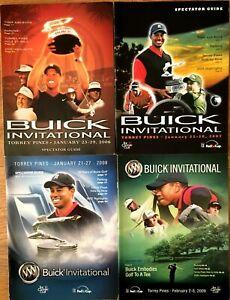 Tiger Woods Buick Invitational PGA Tour golf programs covers 2006 2007 2008 2009