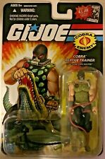 2008 GI Joe Cobra Reptile Trainer Croc Master 25th Anniversary New Figure