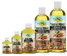 Sweet Almond Oil Natural Massage Carrier Oil Cold Pressed 100% Pure