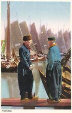 Postcard Holland Netherlands Volendam Boats Unused c1920s