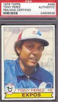 Tony Perez Signed 1979 Topps Psa/dna Slabbed Autograph Authentic