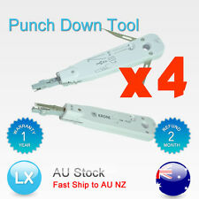 4x PUNCH DOWN KRONE LAN TELEPHONE CABLE CAT5 CAT6 CAT5a CAT 5 5a 6 TERMINAL TOOL
