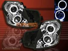2003-2007 CADILLAC CTS CCFL HALO ANGEL EYES PROJECTOR HEADLIGHTS CHROME CLEAR