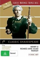 Classic Matinee Triple Bill - Classic Shakespeare (DVD, 2010, 3-Disc Set)