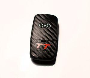 Audi TT 8N 8E  carbon fiber style key sticker with red TT logo