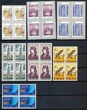 Luxemburg  864 - 870 postfrisse blokken van 4