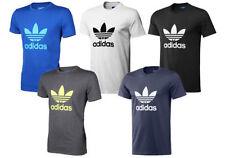 Adidas Original Trébol Camiseta Tee Deportes Top de cuello redondo Algodón Talle S M L Xl