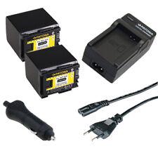 2x Batteria Patona + caricabatteria casa/auto per Canon LEGRIA HF G25,HF G26