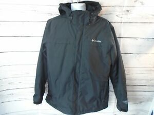 Columbia Interchange Omni-Tech Waterproof Hooded Ski Jacket Men's Large