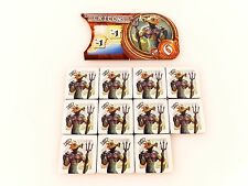 Small World Replacement / Expansion Tritons Race Token & Banner Set 12pc