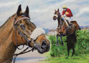 RED RUM - GRAND NATIONAL Horse racing hero. based on painting by Phil Boulton