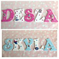 Personalised Girls Name Wooden Letter Door Wall Plaque ANY DISNEY/FROZEN Theme