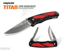 Havalon TITAN XTC RED Double Bladed Hunting / Skinning Knife JIM SHOCKEY Edition