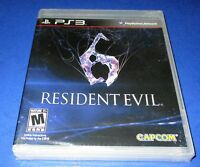 Resident Evil 6 Sony PlayStation 3 *Factory Sealed! *Free Shipping!