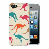 For Apple iPhone 5 5S Silicone Case Australia Kangaroo Pattern - S5966