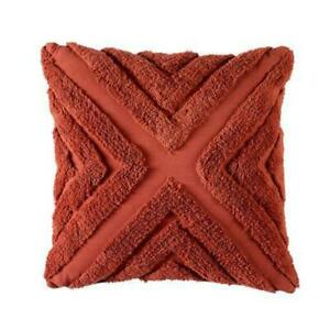 Haven 43x43cm Filled Cushion Terracotta by Bianca