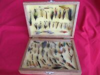 Antique Fishing Flies Salmon & Trout 70 Mixed Flys, 1.2.3 Hooks For Fly Fishing