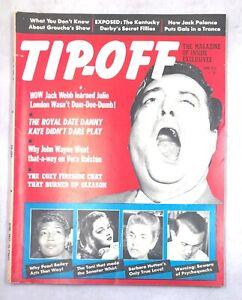 Tip-Off June 1957 Jackie Gleason Jack Webb Danny Kaye John Wayne Pearl Bailey