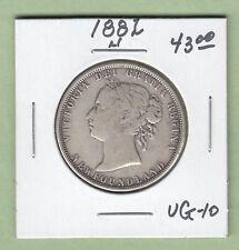 1882-H Newfoundland 50 Cents Silver Coin - VG-10