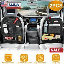 2 Car Back Seat Storage Bag Tidy Organizer Bag Travel Pocket Pouch Holder Black