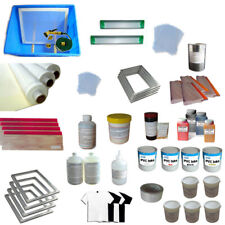 4 Colors Screen Printing Materials Kit Silk Screen Press Tool Accessories Hot