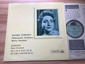 HMV CSD 1253 UK 1st G/G PROKOFIEV - PIANO CONCERTOS NO 1 & 3 *MOURA LYMPANY* NM
