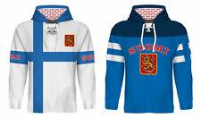 NEW 2018 Finland Suomi Hockey Championship Hoodie NHL Jokinen Ruutu Barkov Rinne